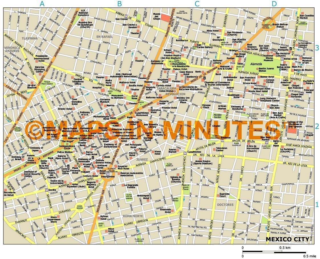 Mexico City Tourist Map Pdf – Tourist Map Of Mexico City