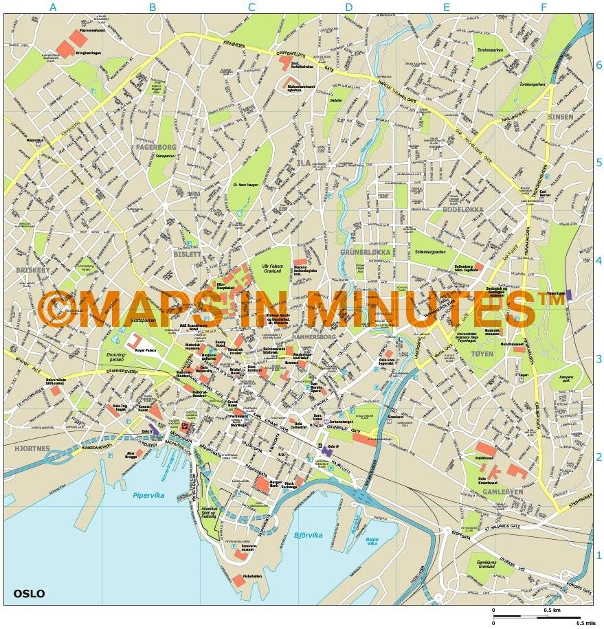 oslo kart pdf Oslo map oslo kart pdf