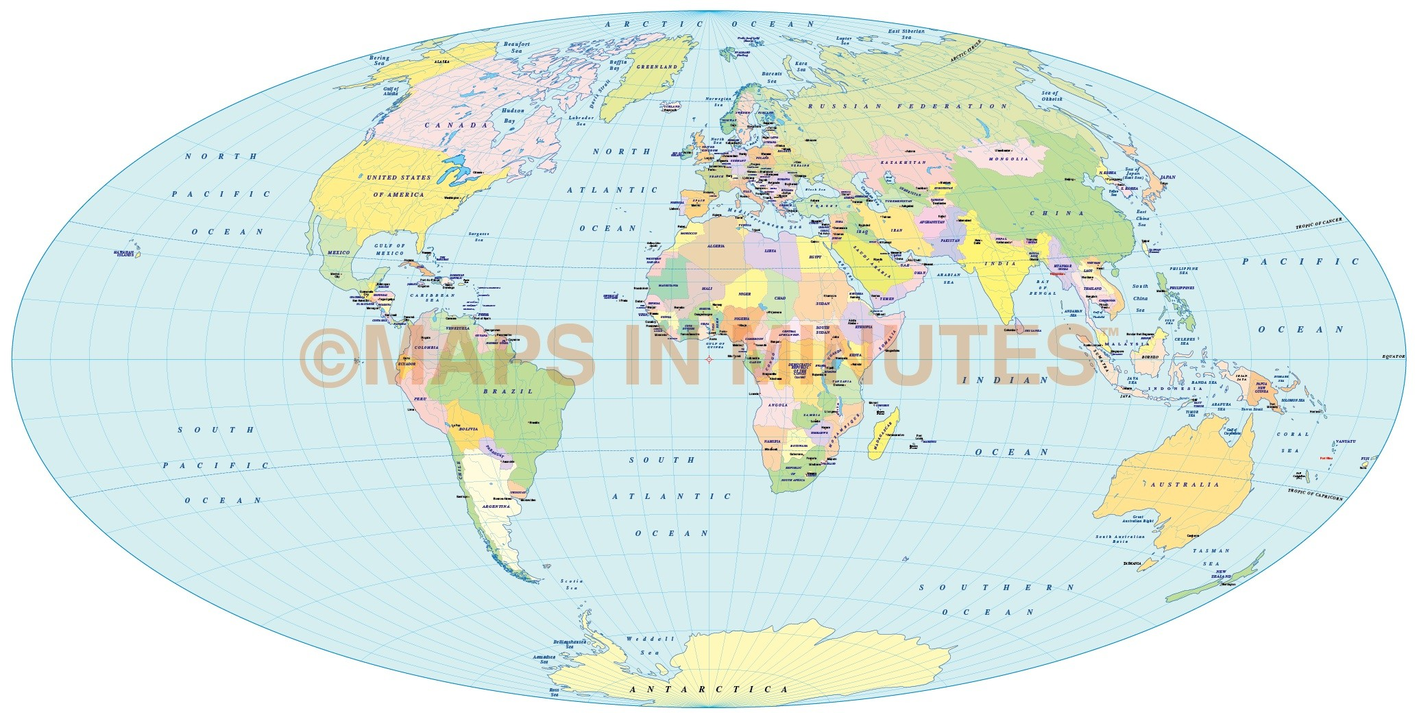 Vector political world map aitoff projection uk centric in vector world map aitoff projection 100m scale uk centric gumiabroncs Image collections