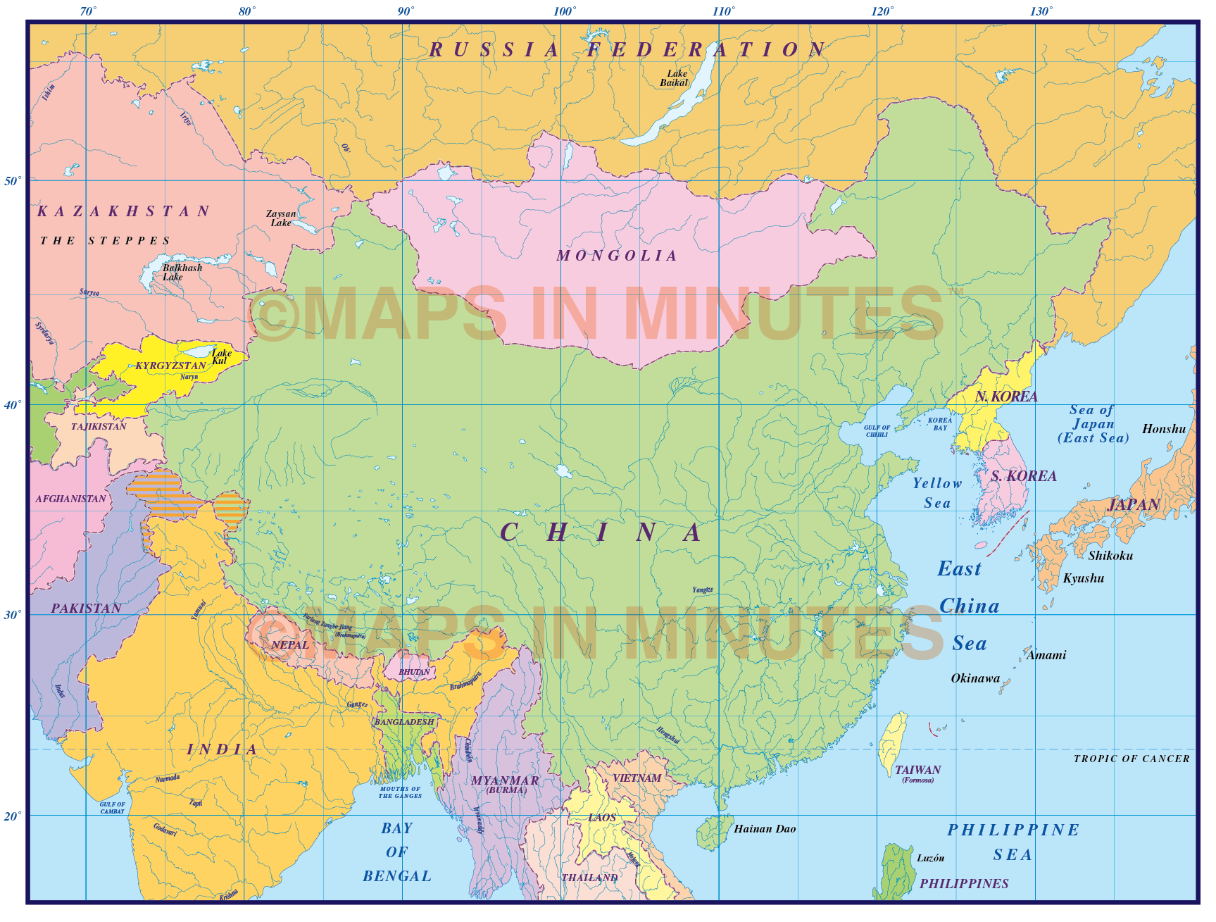 China first level political country map 10000000 scale in china simple country map 10m scale gumiabroncs Images