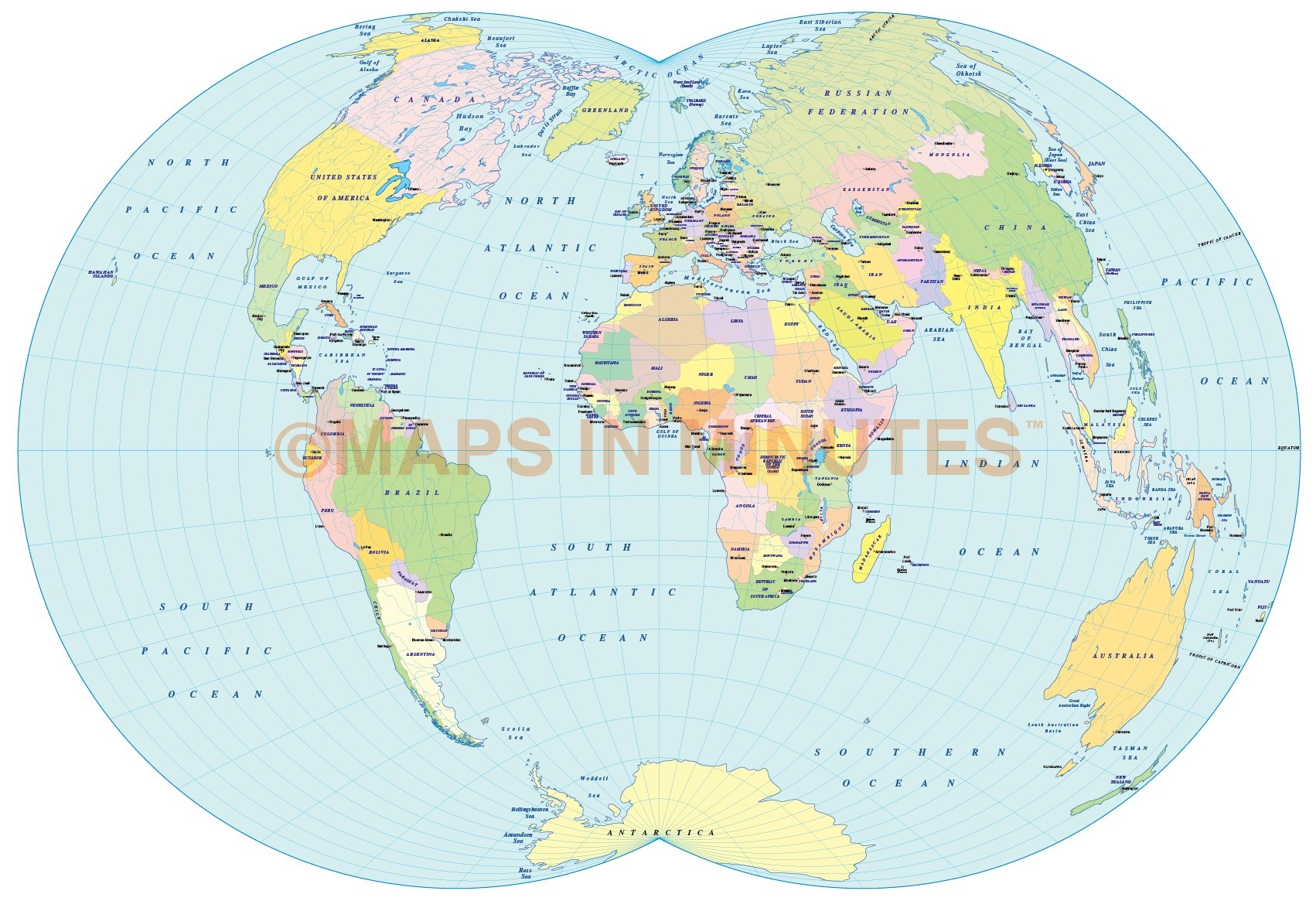 Digital vector royalty free world political map in the dietrich vector world map dietrich kitada projection 100m scale uk centric denoyer projection digital gumiabroncs Gallery