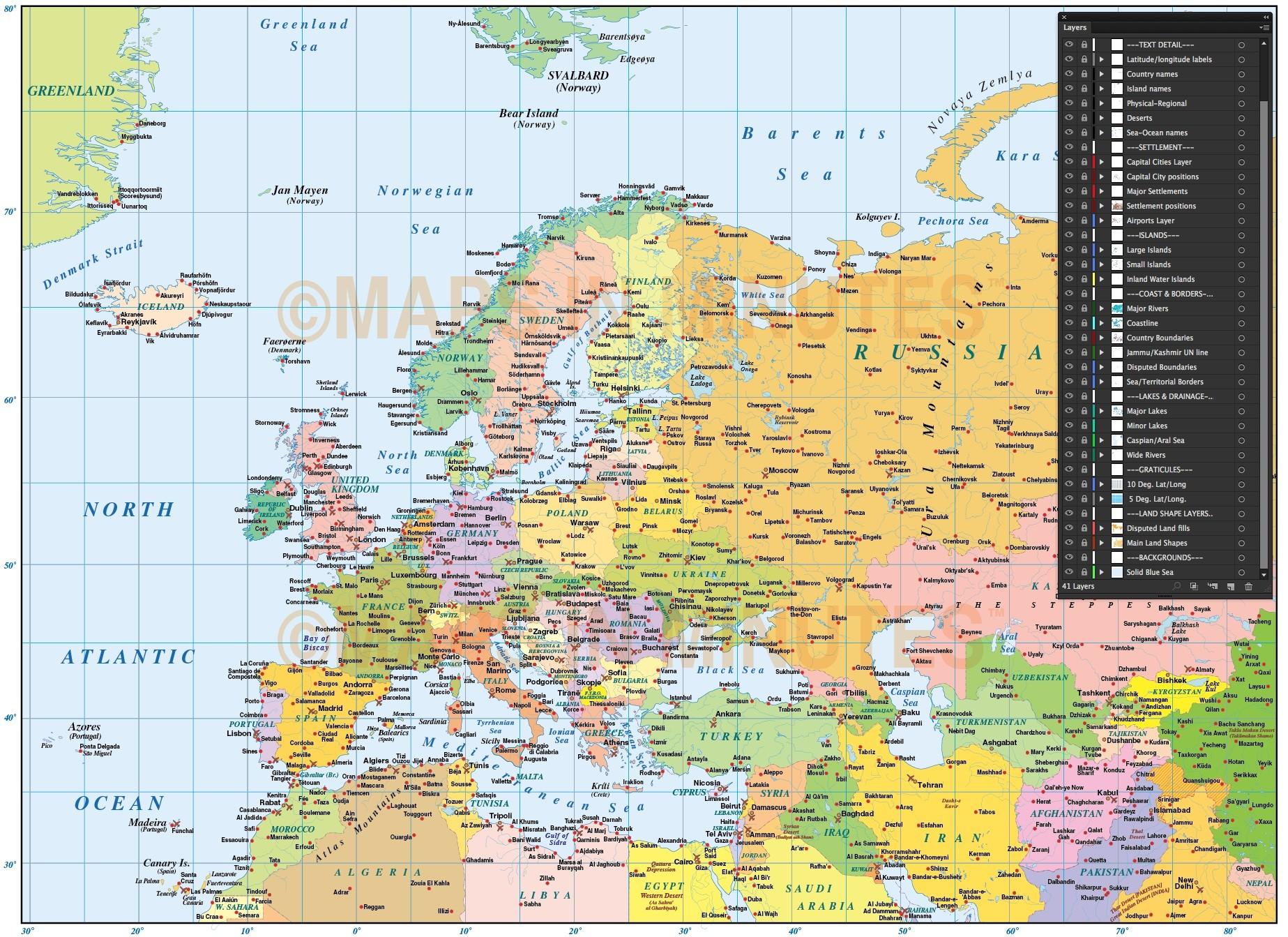map of europe pdf free