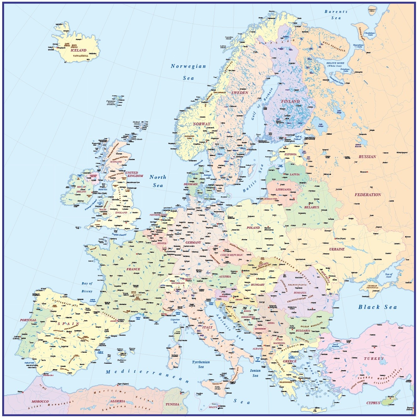 Map Of Europe With Scale.4m Scale Europe Political Basic Map In Illustrator And Pdf Formats