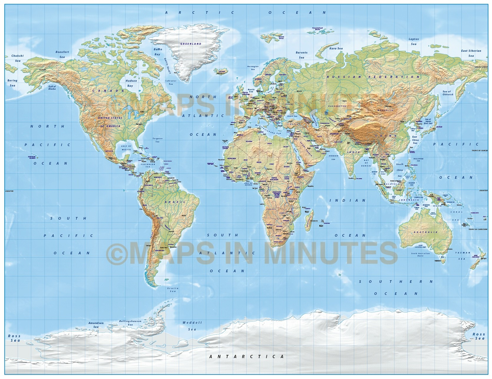 Digital vector world relief map in the gall projection light digital vector world relief map gall projection in light colours style 1 gumiabroncs Images