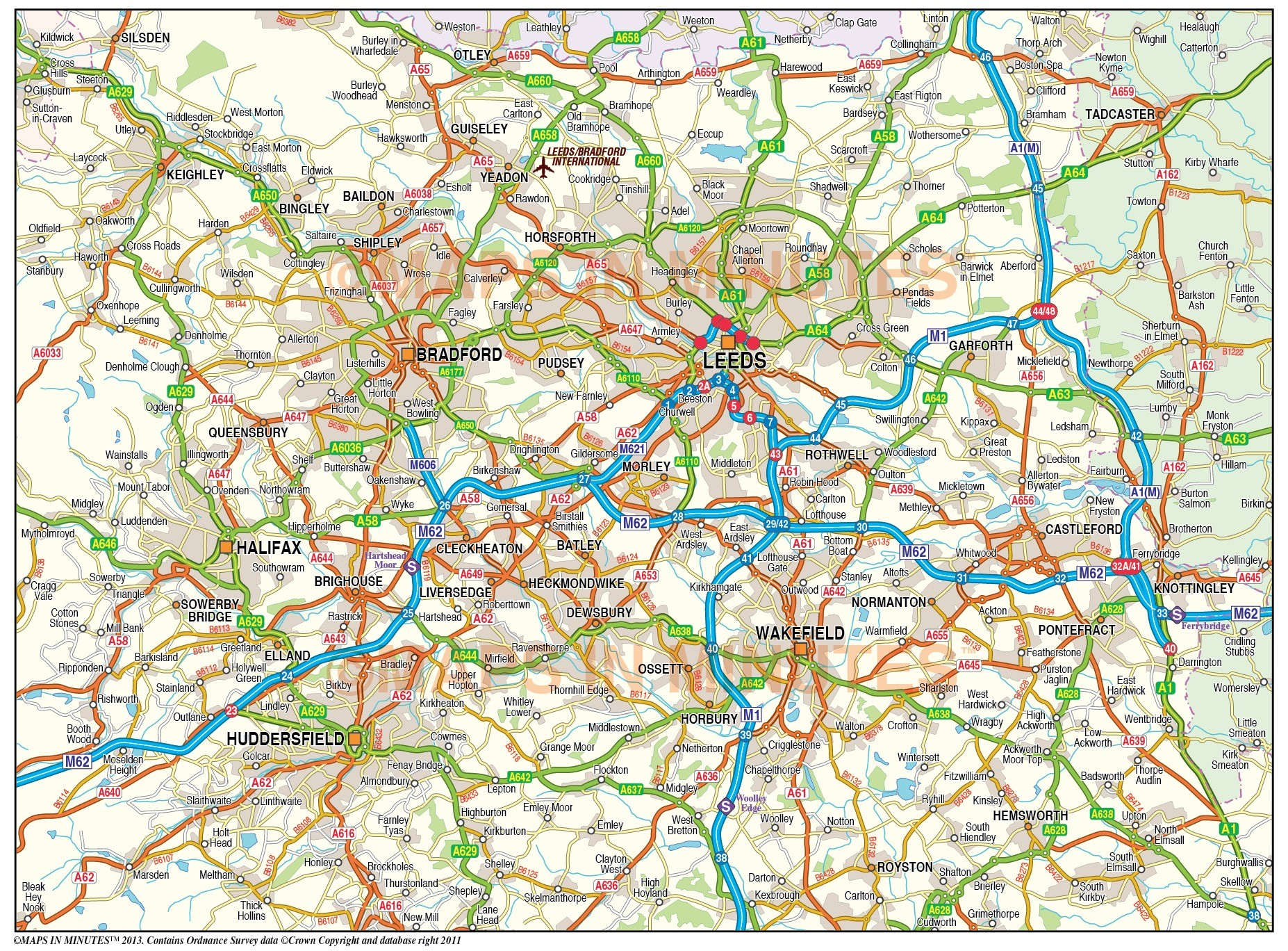 Greater BirminghamCoventry map 250k scale in Illustrator CS format