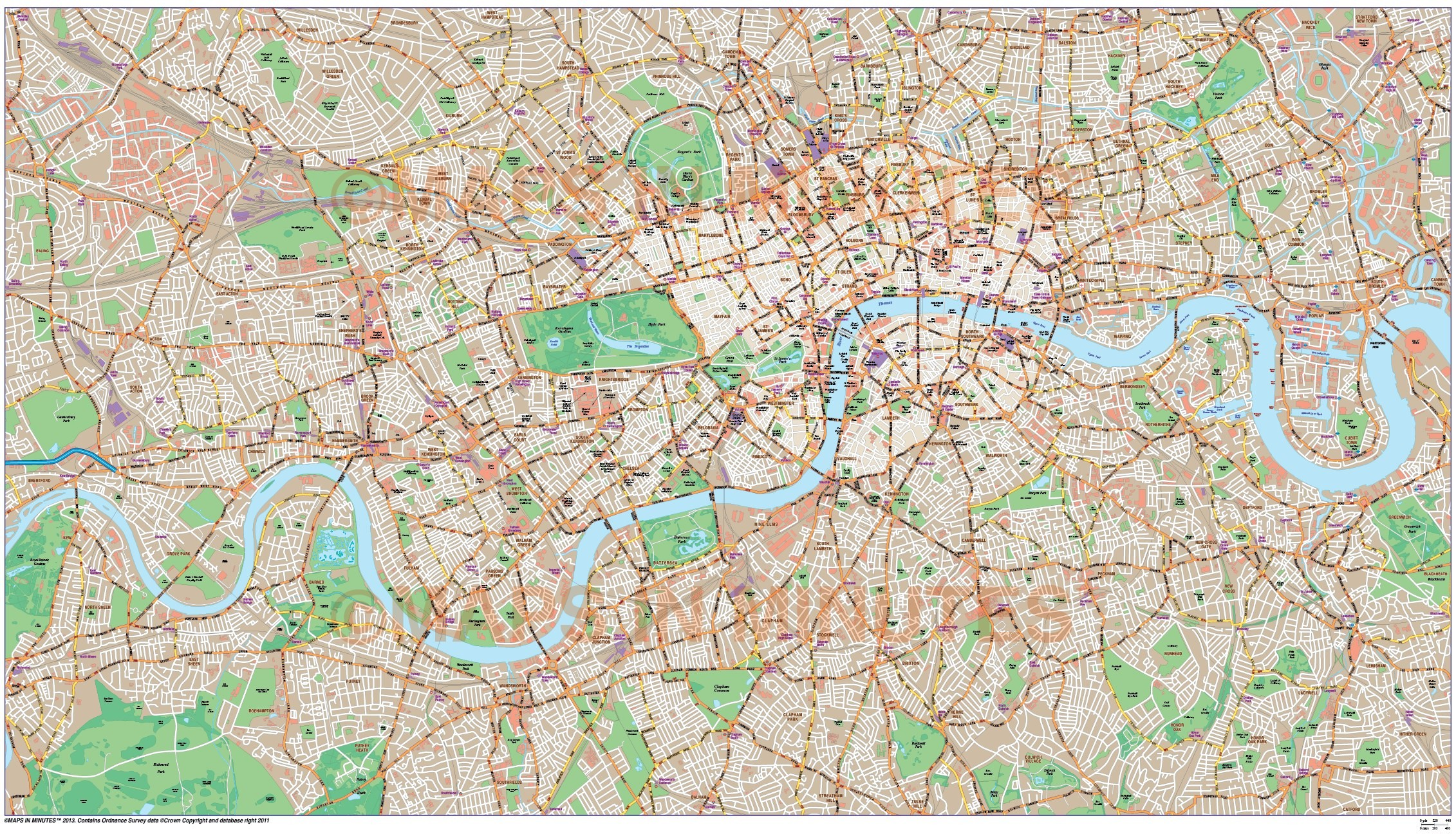 London Large Base Map 10 000 Scale In Illustrator Cs Format