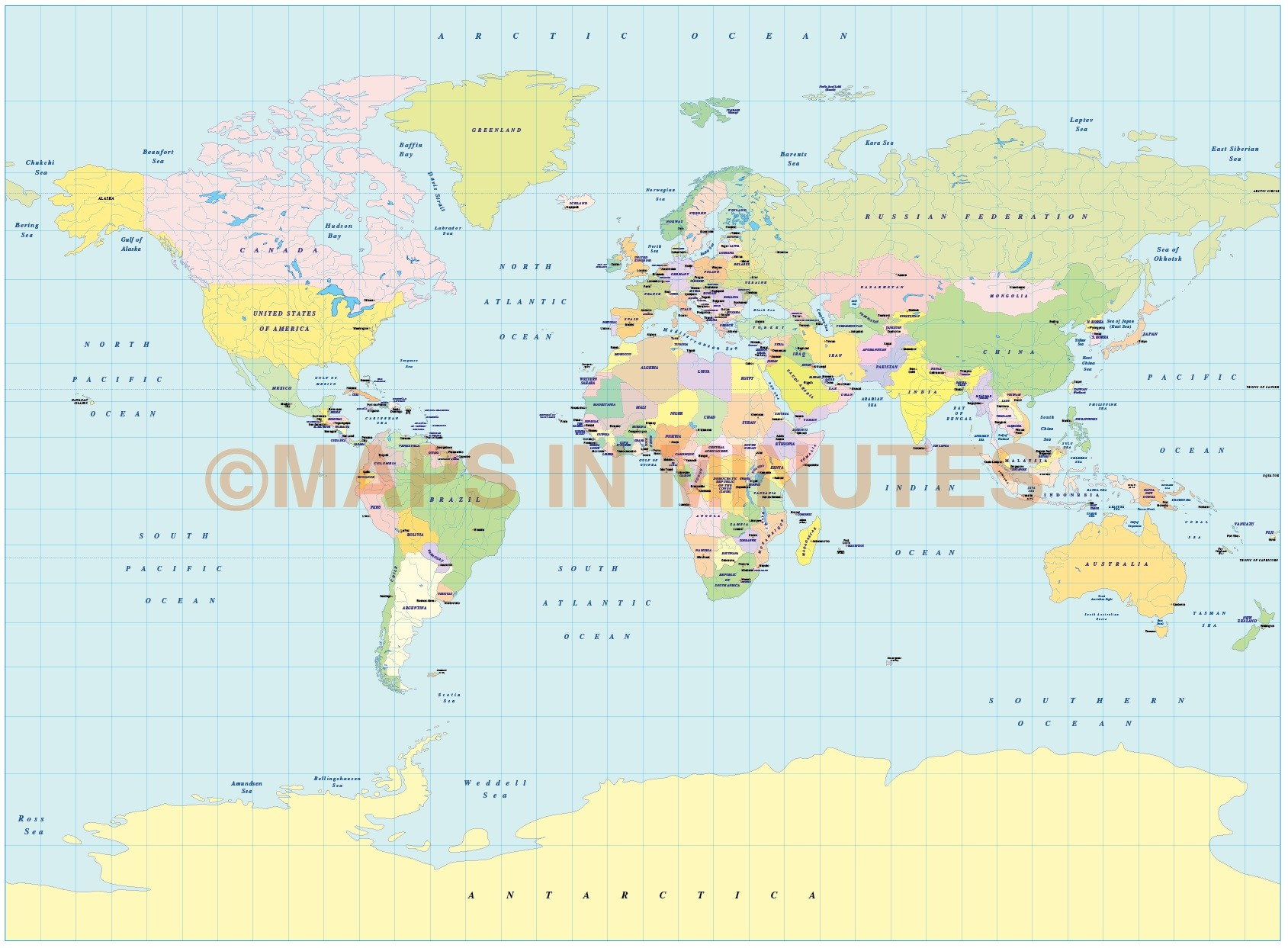 Picture of: Digital Vector World Political Small Scale Map Collection 10 Maps Selection