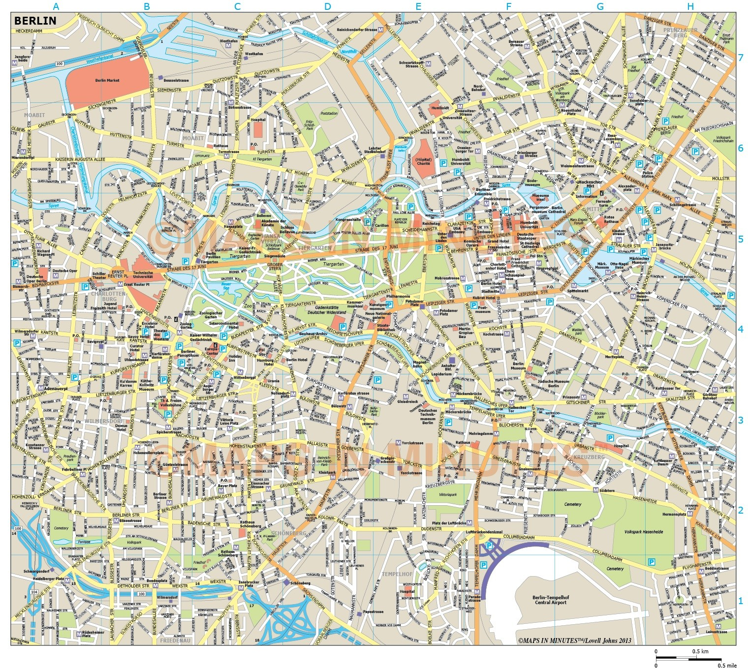 Berlin Map Pdf – Berlin Tourist Map Pdf