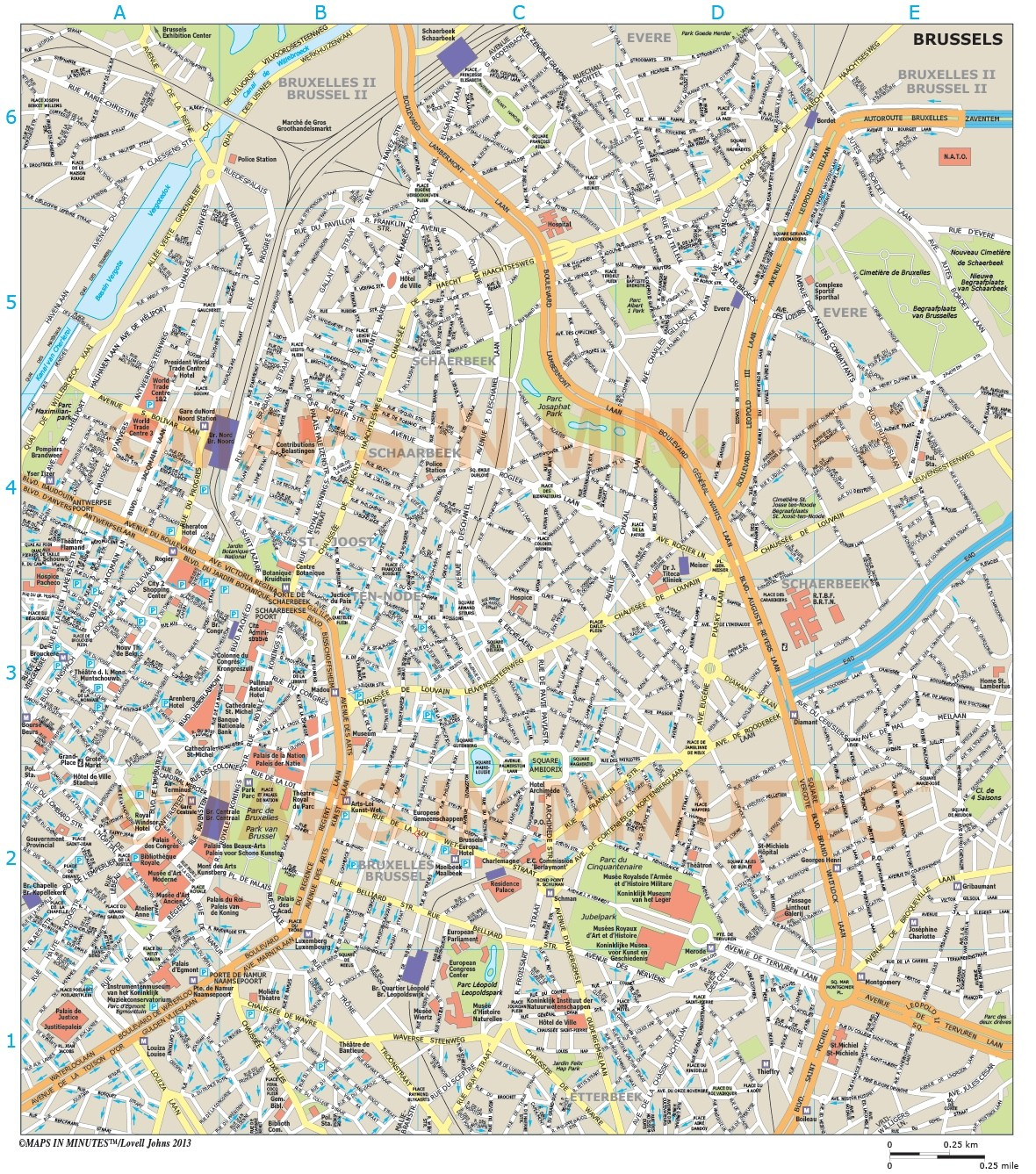 brussels city map