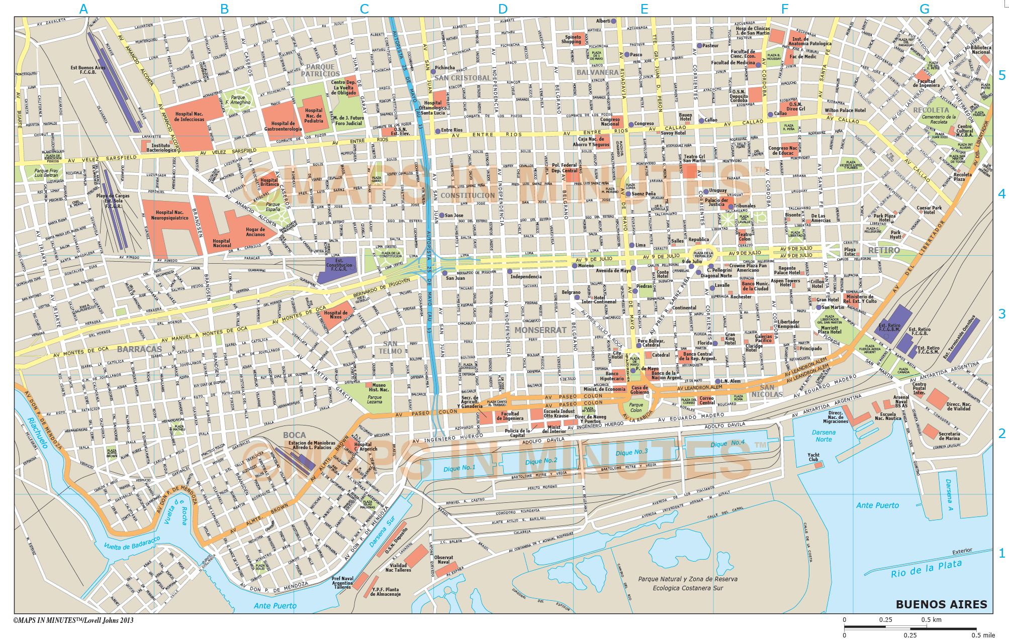 Where Is Buenos Aires On A World Map.Buenos Aires City Map