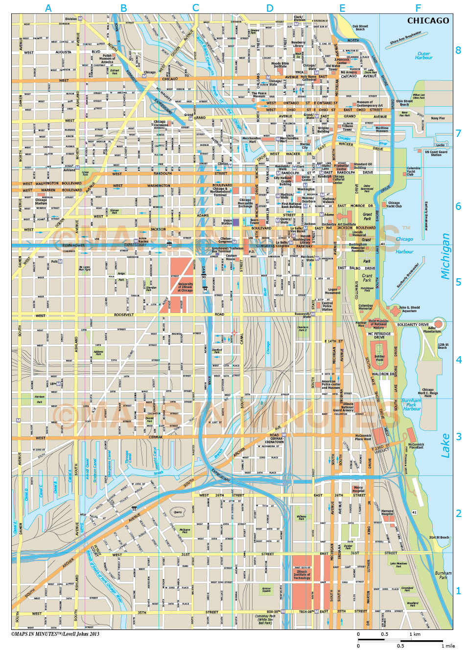 Chicago Map Pdf Downtown My Blog - Downtown chicago map pdf