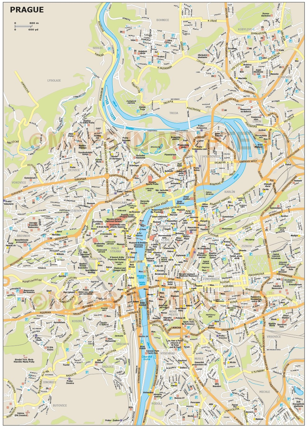 Free PDF maps of United States