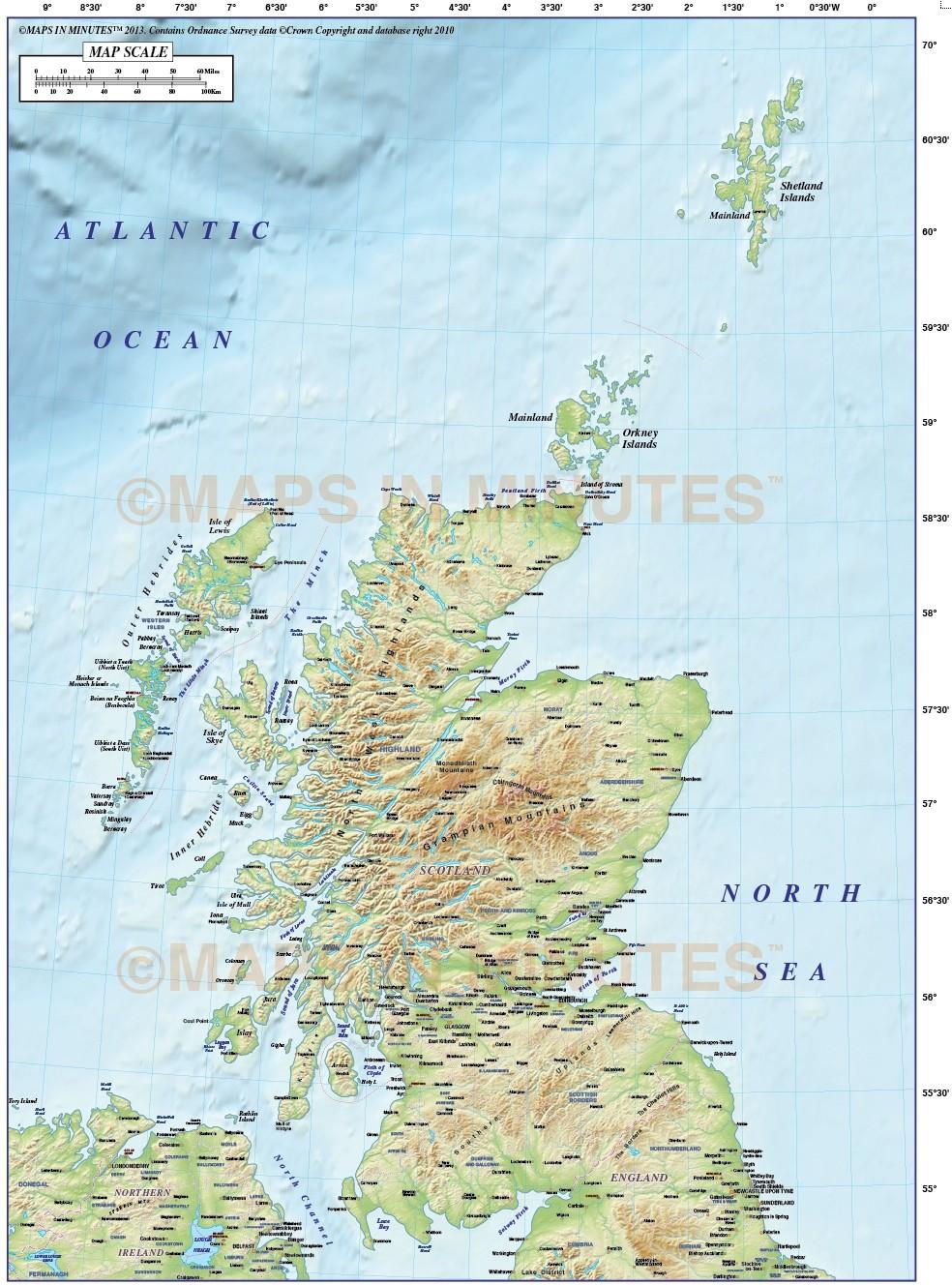 Maps Scottish Islands