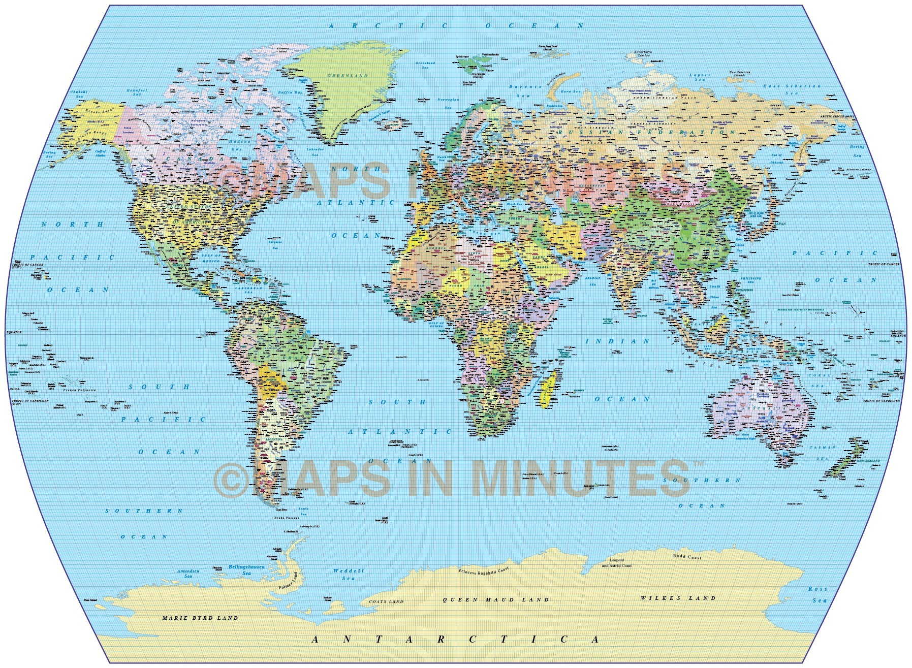 Uk In Map Of World.Vector World Map Times Projection Political Uk Centric 10m Scale In