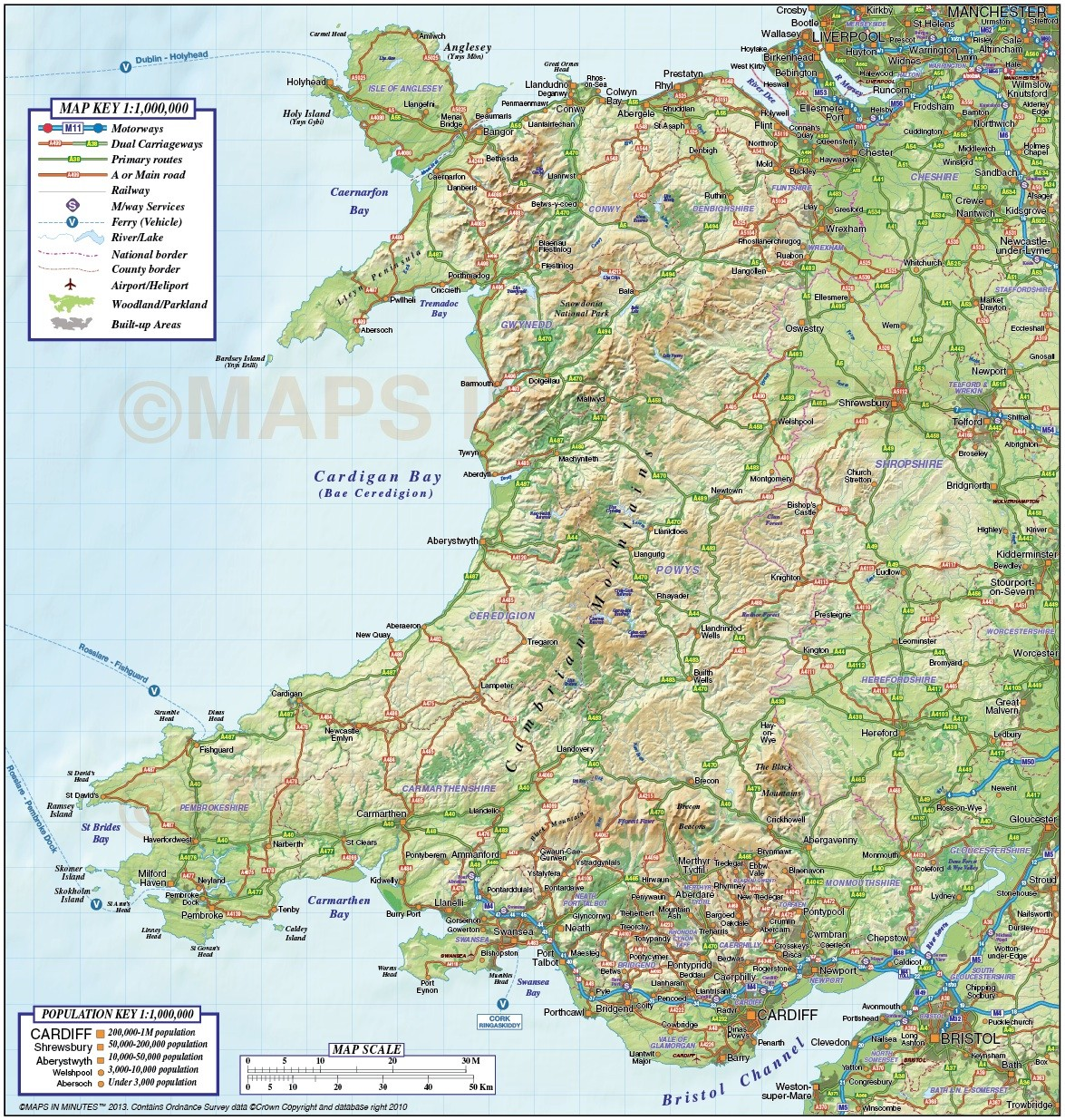 Printable Map Of Wales Pictures to Pin on Pinterest PinsDaddy