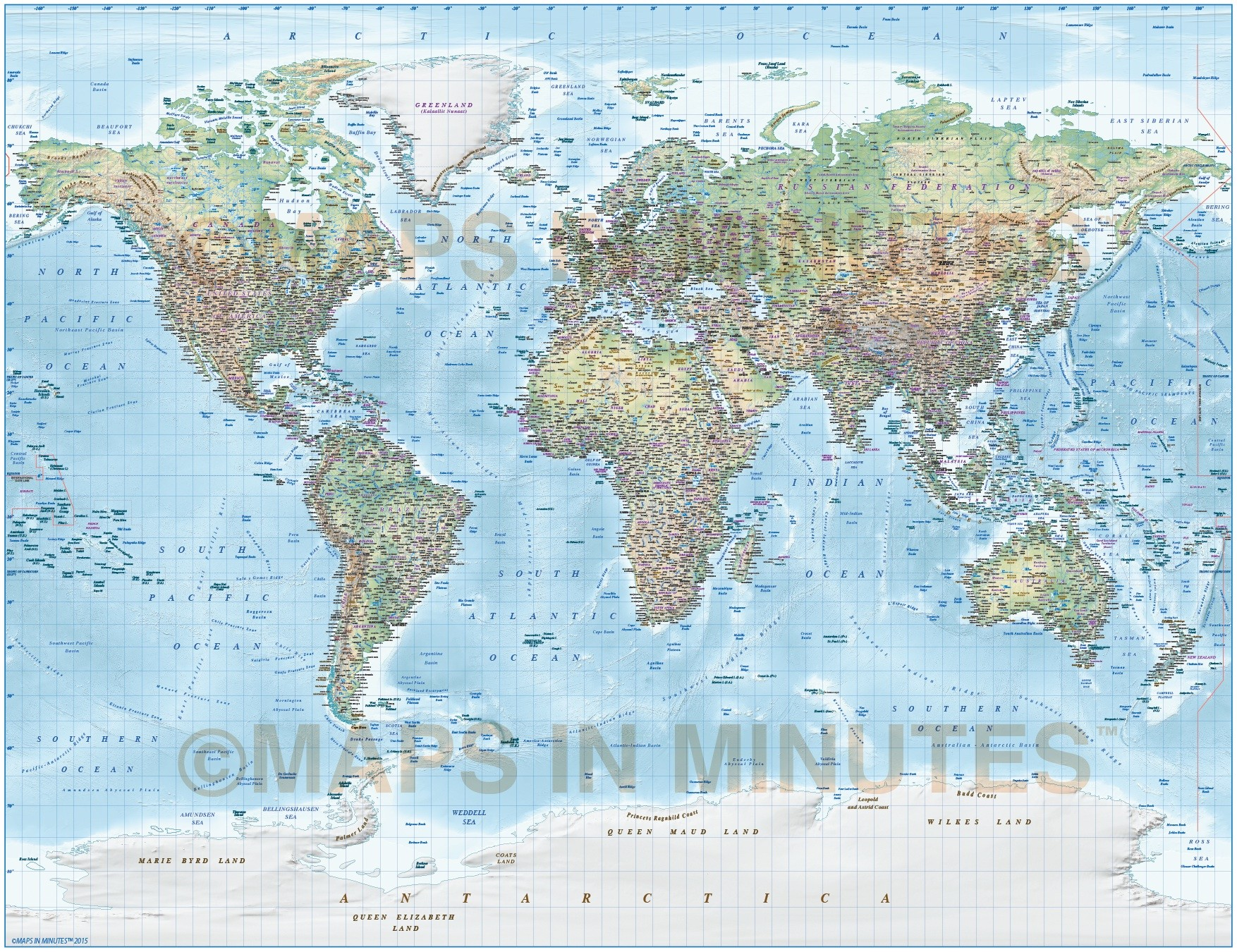 Detailed World Map Illustrator Format Cs6 Cc Ai Vector Political