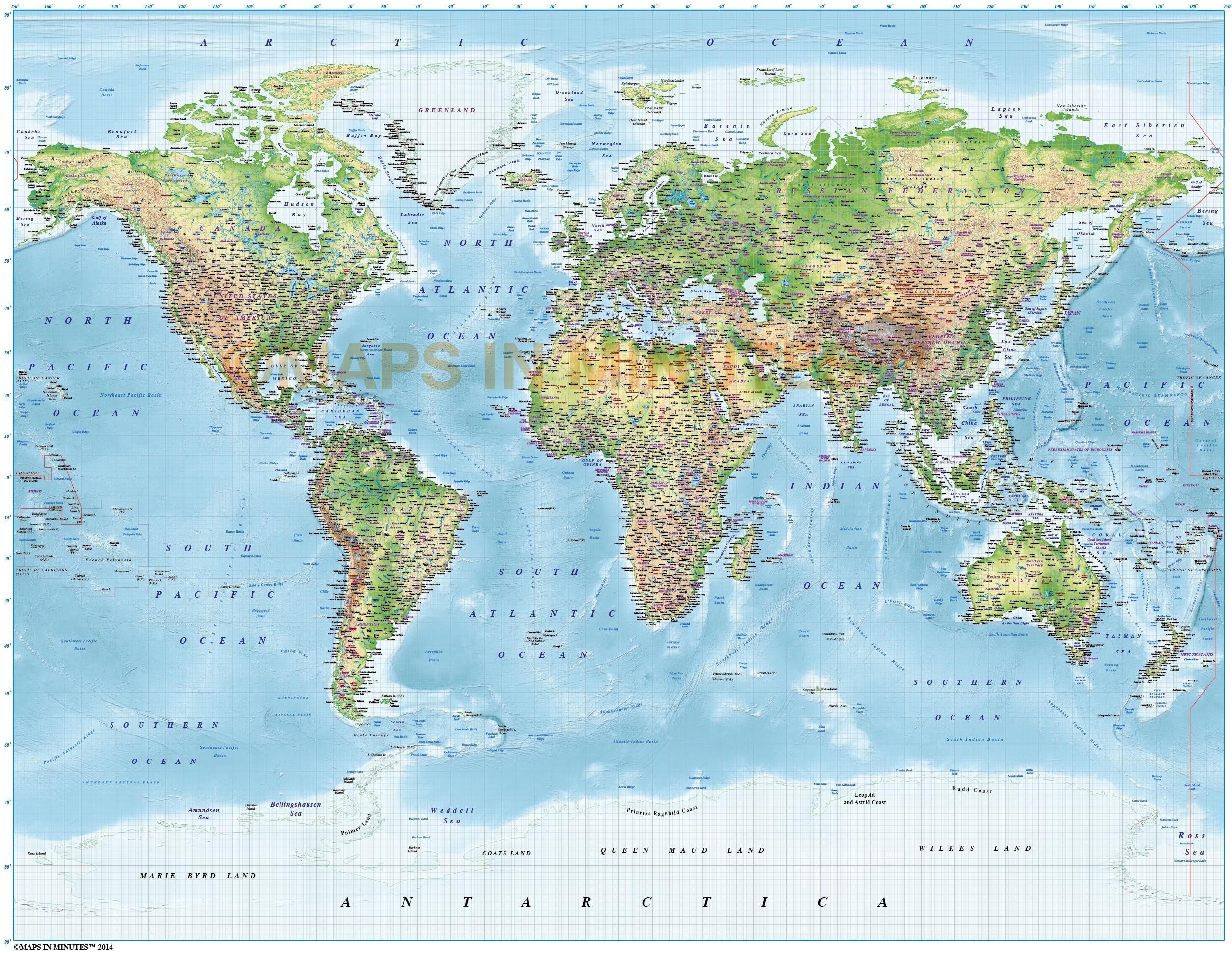 High Resolution World Map – Map World High Resolution
