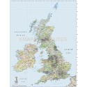 Detailed British Isles UK Road and Rail map, Illustrator AI CS vector format, counties, large 1m scale