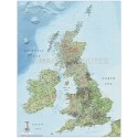 British Isles County Road & Rail map @1,000,000 scale with Regular Relief