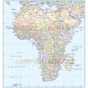 Africa Political Countries map with Insets