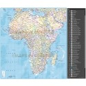 Africa vector Map, Illustrator CS & PDF formats. Political Insets and Ocean floor contours