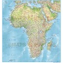 Africa Political vector map with 300dpi Regular relief tiff option