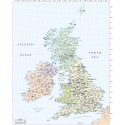 British Isles Basic Country map @5,000,000 scale EZRead