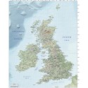 5M scale British Isles Country EZRead Old Style Relief map