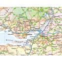 British Isles UK Road map, Illustrator AI CS vector format, county fills 5m scale