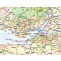 British Isles UK Road map, Illustrator AI CS vector format, county fills 5m scale