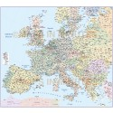 4M scale Central Europe Political Country Map with Roads & layered populations
