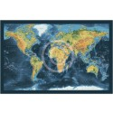 "Rolled CANVAS Navy World Map - Large size 60""w x 38""d"