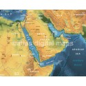 """Rolled CANVAS Navy World Map-Largesize 60""""w x 38""""d"""