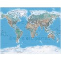 Gall Large World Political and Natural Earth Relief Map