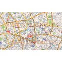 "VINYL Central London Street Map - Large size 65.75""w x 47.25""d"