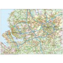 Greater Liverpool-Manchester County Road map @250k scale