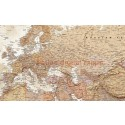 """Rolled CANVAS Sand World Map with Bold Text - Large Size 60""""wx 38""""d"""