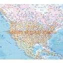"""VINYLPolitical & Ocean floor relief World Map - Large size 60""""wx 38""""d"""