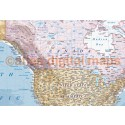 """Rolled CANVAS World Map Political & Relief Medium - Large Size 60""""wx 38""""d"""