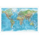 "Blue World Relief Map PAPER - Large size 60""w x 40""d"