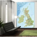 British Isles Wall Mural - Large size 2 Piece
