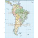 South America Political map with Brazil State borders and fills