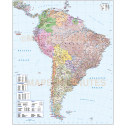 South America Deluxe Road & Rail Map with first level political divisions