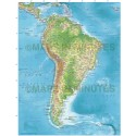 South America Political Map with Regular relief option @10m scale