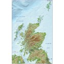 Scotland 1st level Political map with high res strong colour relief @1M scale