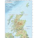 5m scale Scotland Regions map with high resolution 600dpi Regular colour relief