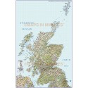 Detailed Scotland vector Road Rail Map, Orkney & Shetland, Illustrator AI format, large 500k