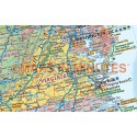 USA Map Stretched Canvas + State Flags Large 140 x 100cm