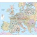 Detailed Central Europe Road Map Political vector Illustrator format