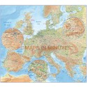 Detailed Central Europe Map, Road, Relief & Political Illustrator format